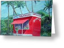 Malasada Stand Greeting Card