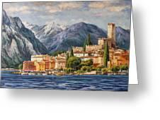 Malcesine Castle, Lago Di Garda Greeting Card