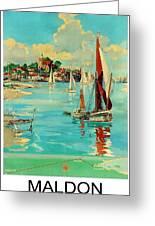 Maldon, England, Sailing Boats Greeting Card