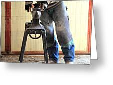 Male Farrier. Greeting Card