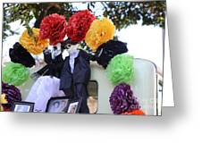 Male Female Color Doll Skeleton  Greeting Card