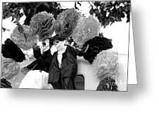 Male Female Skeleton Black Greeting Card