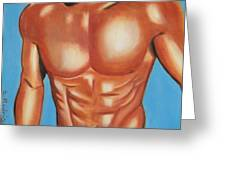 Male Nude Greeting Card