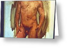 Male Torso Study  Greeting Card