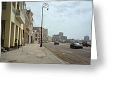 Malecon En Havana Greeting Card