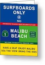 Malibu Beach California Surf Greeting Card