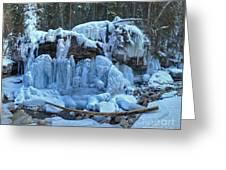 Maligne Canyon Winter Wonders Greeting Card