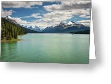 Maligne Lake In Jasper National Park Greeting Card