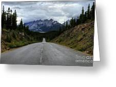 Maligne Lake Road Jasper National Park Greeting Card