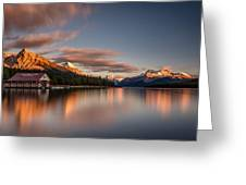 Maligne Lake Sunrise Greeting Card