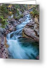 Maligne River In Autumn Greeting Card