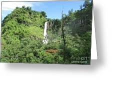 Malino, Waterfall Greeting Card