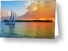 Mallory Square Sunset Celebration Greeting Card