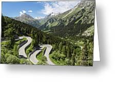 Maloja Pass In Graubunden, Switzerland Greeting Card