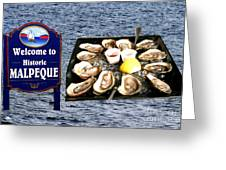 Malpeque Oyster Poster Greeting Card