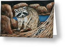 Mama Racoon Greeting Card