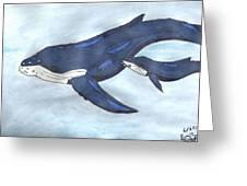 Mama Whale Greeting Card