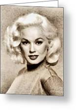 Mamie Van Doren, Vintage Actress And Pinup Greeting Card