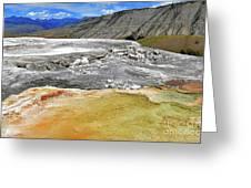 Mammoth Hot Springs1 Greeting Card