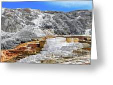 Mammoth Hot Springs3 Greeting Card