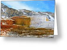 Mammoth Hot Springs4 Greeting Card