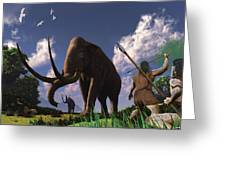 Mammoth Hunters Greeting Card