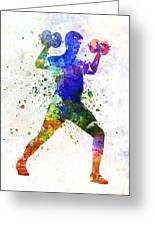 Man Exercising Weight Training Greeting Card