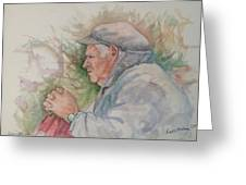 Man From Aran Greeting Card