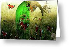 Man Front Of Mother Nature Greeting Card