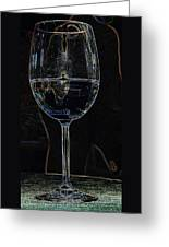 Man In A Glass Greeting Card