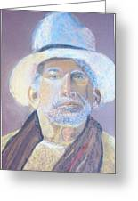 Man In A Straw Hat Greeting Card