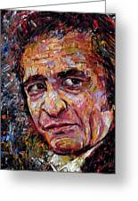 Man In Black Johnny Cash Greeting Card