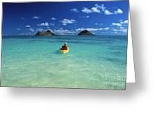 Man In Kayak Greeting Card