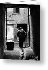 Man In Paris Alley Greeting Card