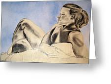 Man In Recline Greeting Card