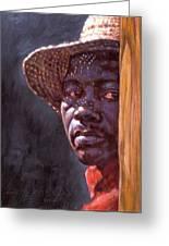 Man In Straw Hat Greeting Card