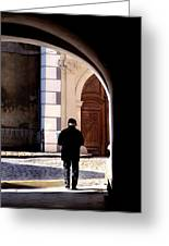 Man In The Archway Greeting Card