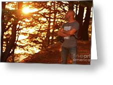 Man In The Forest Greeting Card