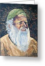 Man In The Green Turban Greeting Card