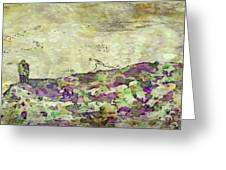 Man In The Lansdscape By Mary Bassett Greeting Card