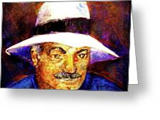 Man In The Panama Hat Greeting Card