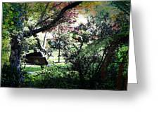 Man In The Park Greeting Card