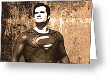 Man Of Steel Greeting Card