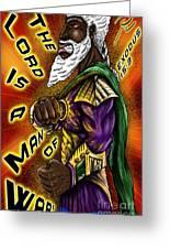Man Of War Poster Design Greeting Card
