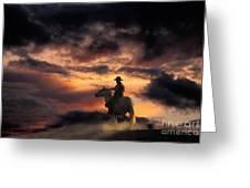 Man On Horseback Greeting Card