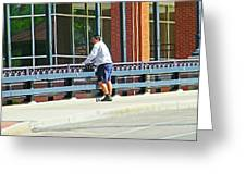 Man On The Bridge Greeting Card