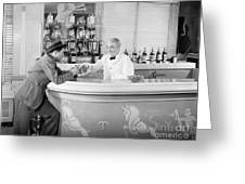 Man Ordering Another Drink, C. 1940s Greeting Card