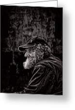 Man With A Beard Greeting Card by Bob Orsillo