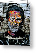 Man With Colourful Face Greeting Card