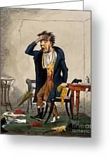Man With Excruciating Headache, 1835 Greeting Card